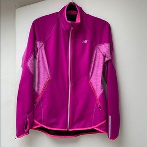 NB DRY Pink long sleeve running jacket